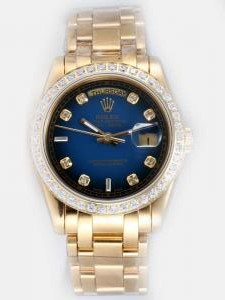 Rolex Day Date Indigo Dial With Shaped Hour Mark