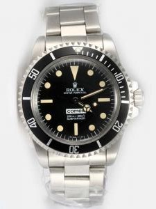 Rolex SUBMARINER Full 18K White Gold Black Dial