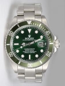 Rolex SUBMARINER Full 18K White Gold Jade Dail P