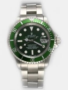 Rolex SUBMARINER Full 18K White Gold Green Dail