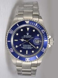 Rolex SUBMARINER Full 18K White Gold Blue Dail B