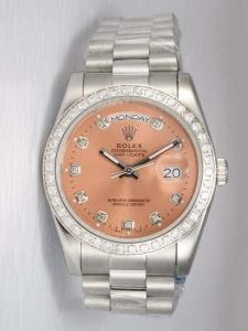 Rolex Day Date Anti Gold Dial With CZ Diamond  H