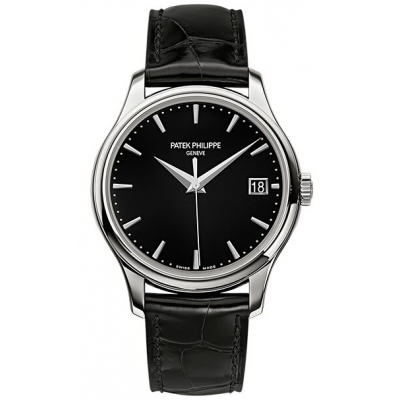Patek Philippe NEW Calatrava Mechanical Black Dial Leath