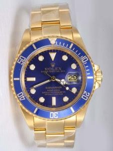 Rolex Submariner 18K Solid Gold Blue Dail Blue B